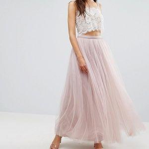 Asos Little Mistress Tulle Blush Skirt
